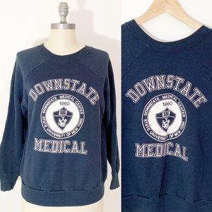 VTG 80s Downstate Medical Crewneck Sweatshirt Med